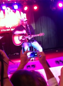Toby Keith performs an acoustic song at His Bar.