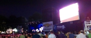 A starry, starry night with Vince Gill at Chevy Court.