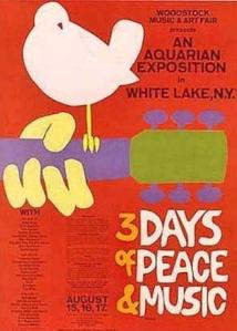 The original Woodstock fest poster is part of a generation's cultural legend.