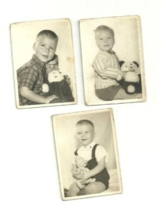 My oldest sister, Francine, collected my baby pictures, taken before she was born.