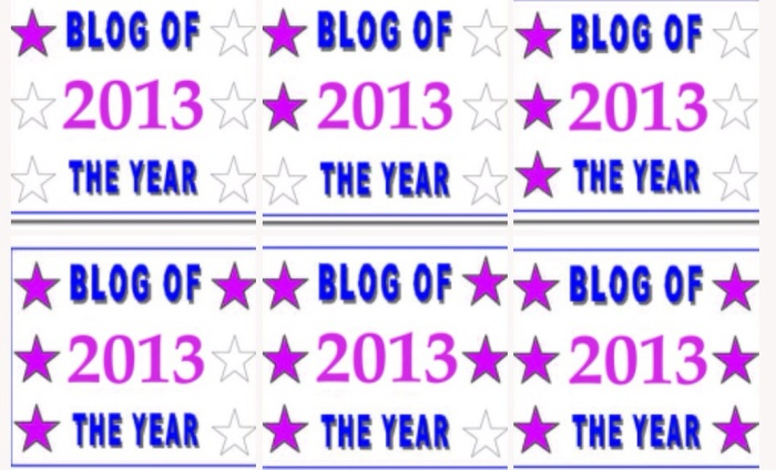 Blog of Year 2013 badges