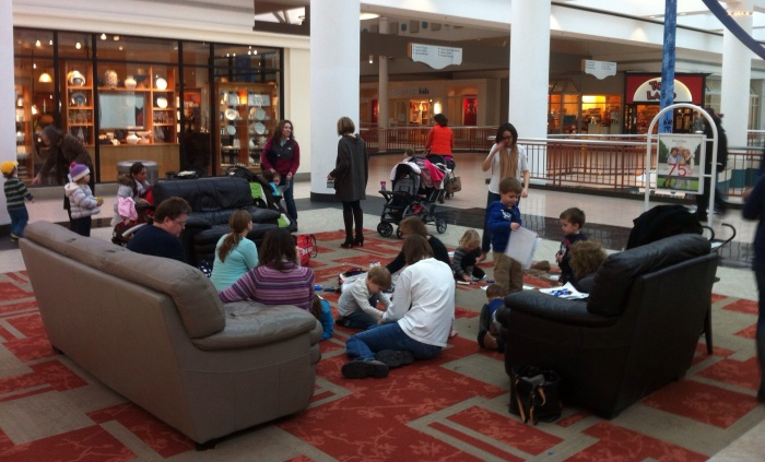 A play date attracts the little ones at Destiny USA in Syracuse.