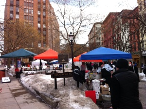 Cooks start stirring in Hanover Square for the 2014 Syracuse Winterfest edition of the Chili Cook-Off.