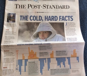 The front page of The Post-Standard on Feb. 27, 2014.