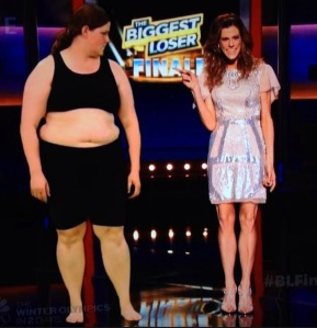 Rachel Frederickson before and after on last night's finale of 'The Biggest Loser.' (From popwatch.ew.com)