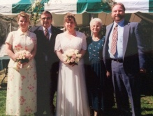 The crew on Fran's wedding day, April 11, 1998.