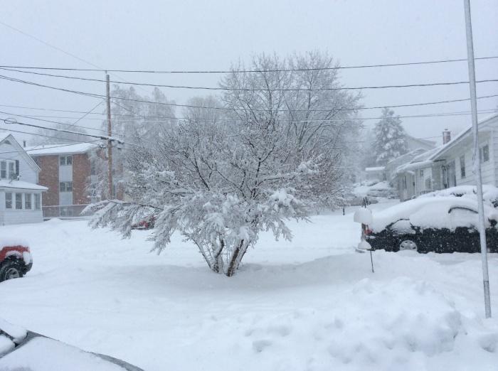 Stormy March 12 in Syracuse, N.Y.