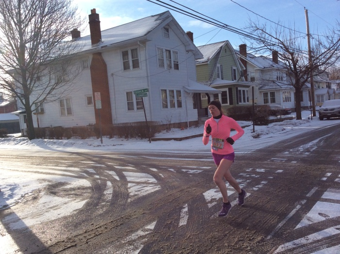 Some runners were not that bundled up.