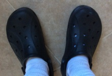 And I didn't even show you my Crocs-with-socks look yesterday.