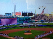 The people of Boston showed how much they care about the Marathon massacre aftermath yesterday at Fenway Park.