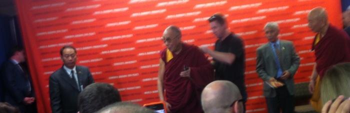 The Dalai Lama has entered the room, folks.