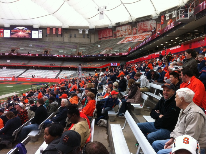 There's some interest from Syracuse football fans.