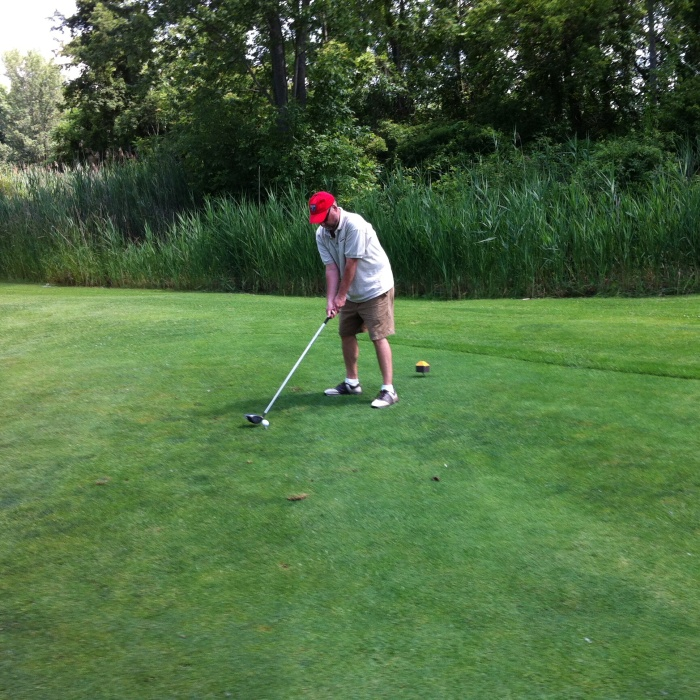 Me at the 12th tee at Olde Oak.