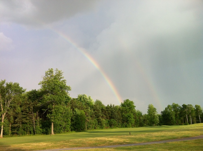 The five minutes of rain that came after we'd teed off on the ninth hole were worth it.