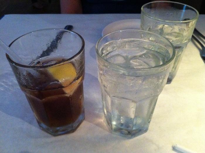Tea and H2O.