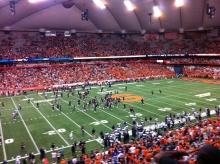 We won! The Syracuse Orange celebrates.