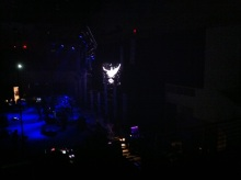 Santana's trademark dove on the video screen.
