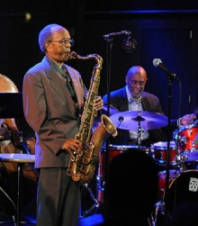Jimmy Heath, on tenor saxophone, and Tootie Heath, on drums, will play with the Heath Brothers on Halloween at OCC's Storer Auditorium.