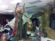 This is a display in a Syracuse Spirit Halloween store.
