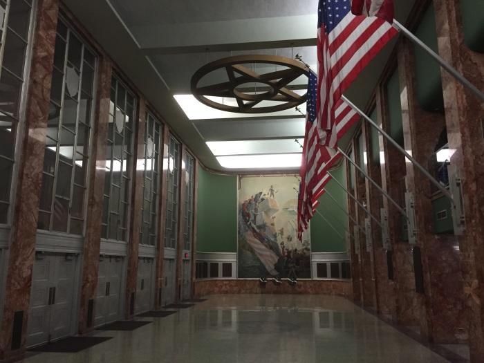 The inside lobby.