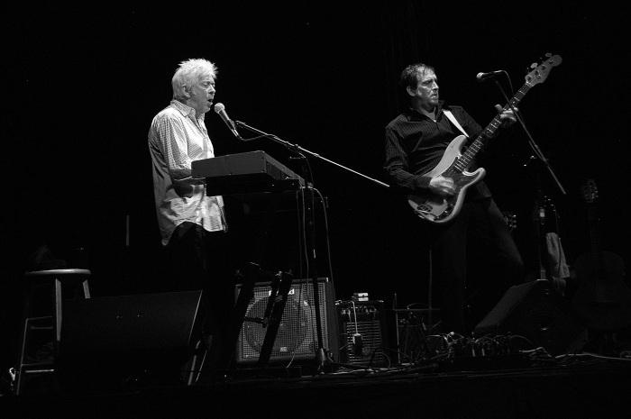 Ian McLagan, left, and Jon Notarthomas. (Photo by Tom Honan)