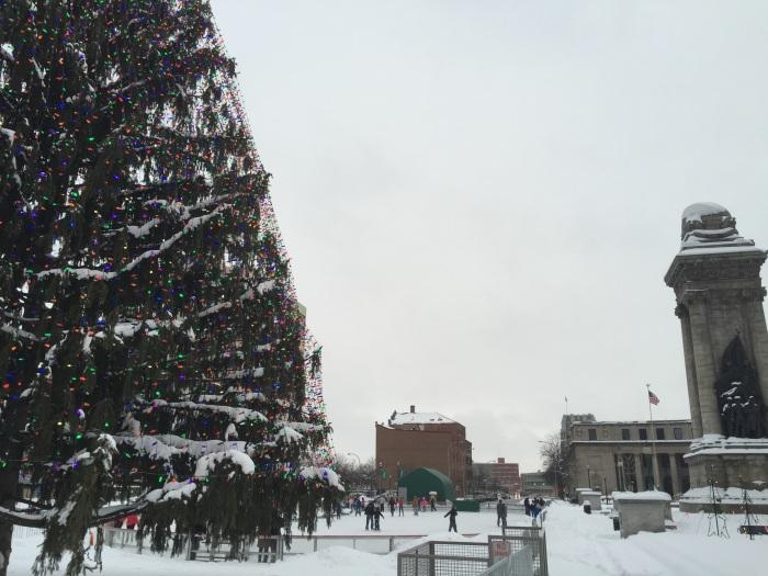 Ice skating on 12/13/14 in Syracuse, N.Y.