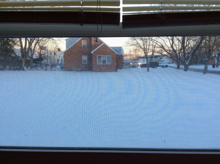 Cold out the living room window.