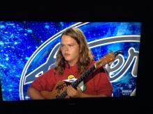 "Kohlton Pascal, not smiling during his ""American Idol"" audition in Kansas City."