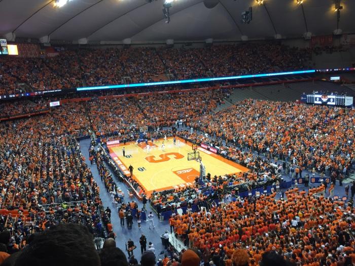 Plenty of people to support the Orange.