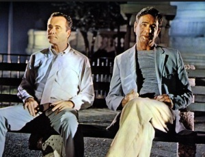 Walter Matthau, right, and Jack Lemon as the silver screen Oscar Madison and Felix Ungar.