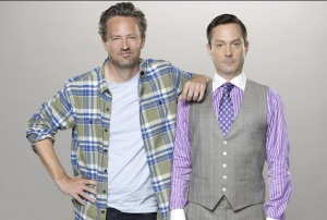 Matthew Perry, left, and Thomas Lennon as Oscar and Felix in CBS's new version. (From Getty Images)