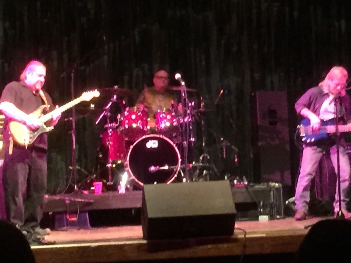 Phil Petroff, left, with Dave Olson on drums and Greg 'Creamo' Liss on bass.