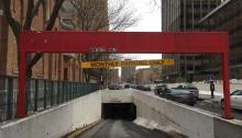 Syracuse underground parking.