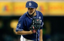 Protecting the lead from the bullpen, Alex Torres. (From Getty Images)