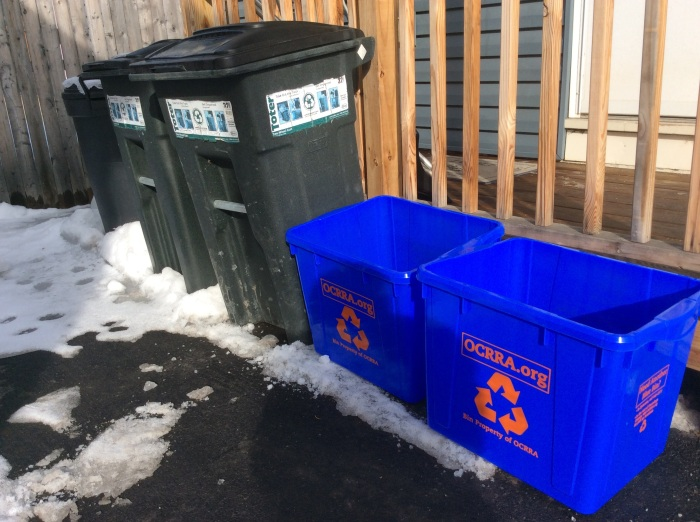 Delivered after the old, cracked, overstuffed bin was collected.