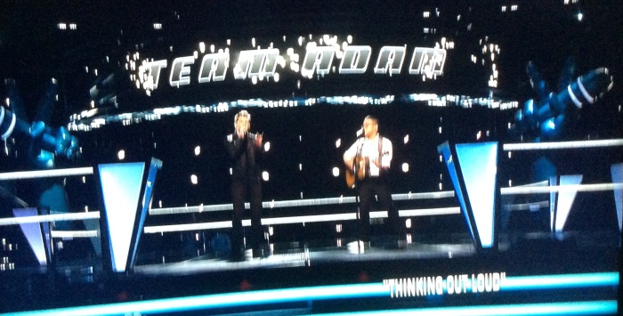 The Battle Round on 'The Voice.'