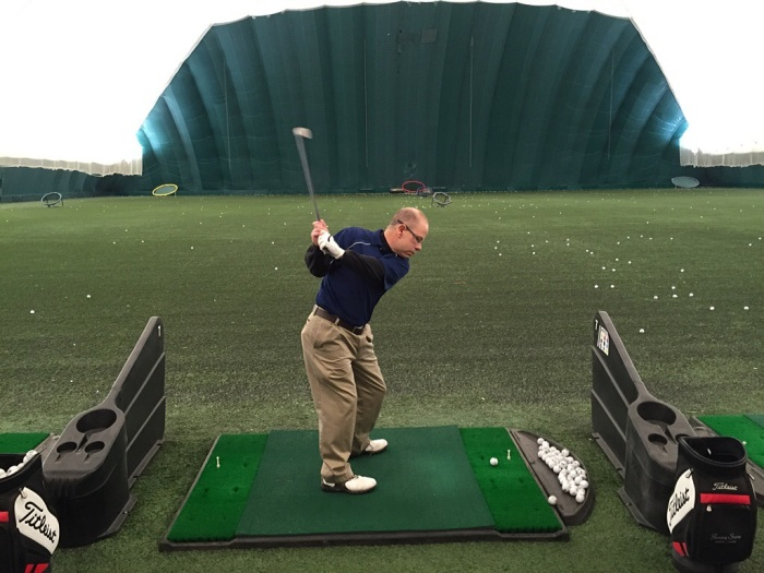 Tater at the backswing.