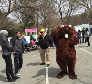 Cherry Blossom Festival mascot.