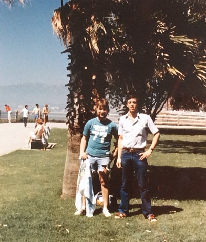 Me and Mike Oakes, Los Angeles, 1976.
