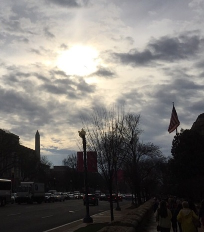 The sun sets on D.C. and her guardian.
