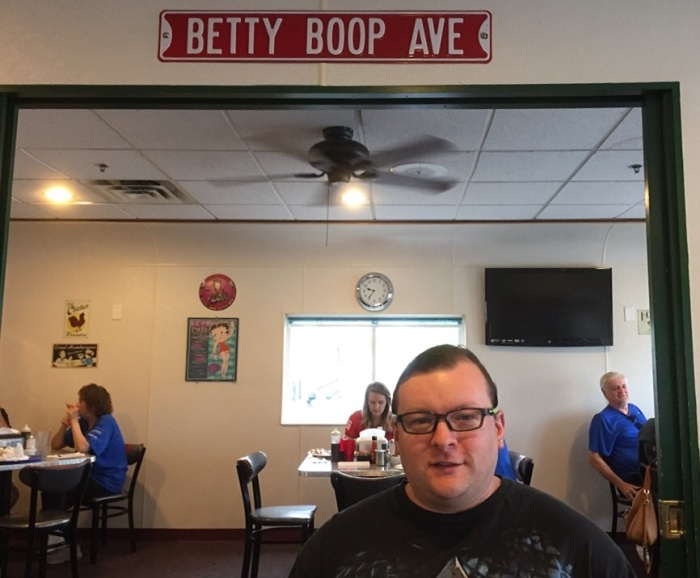 Stop just before you get to Betty Boop Ave.