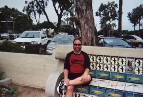 Walking in Santa Barbara. A break.