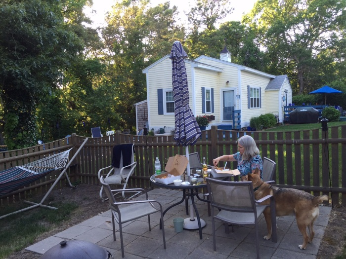 Backyard dinner.