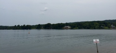 Boating, too, and houses across.