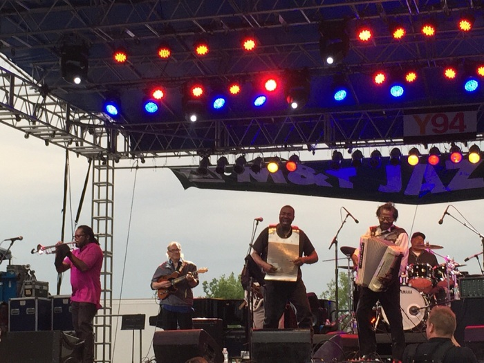 Buckwheat Zydeco does his thing on the accordion.