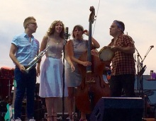Taking the Lake Street Dive to Onondaga Community College Saturday is Mike 'McDuck' Olson, Rachael Price, Bridget Kearney and Mike Calabrese at the M&T Syracuse Jazz Fest.