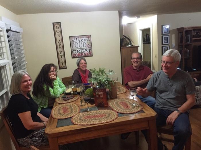 Kitchen gathering.