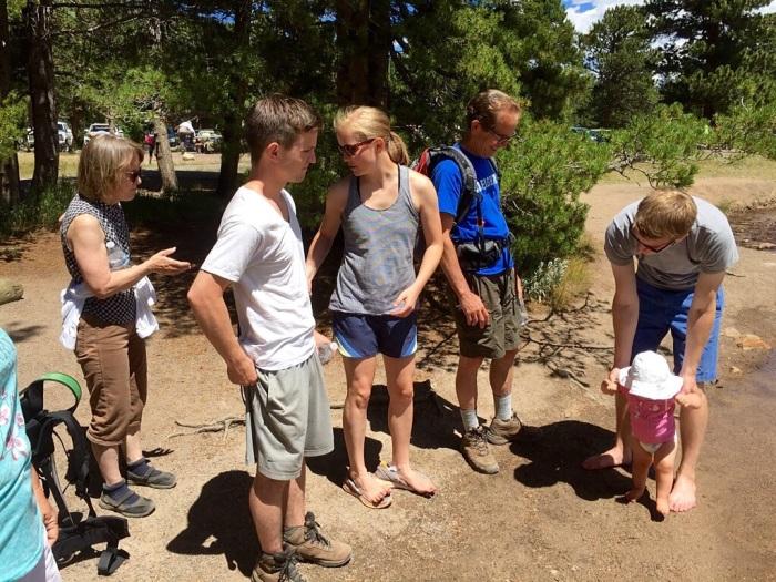 Joan, Ross, Flynne, Steve, Jordan and Lanie, great hikers all.