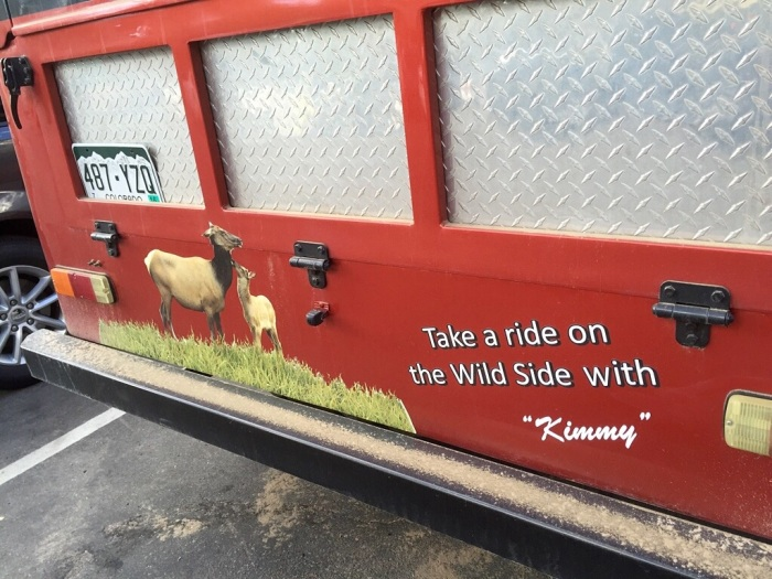 We liked the name of our ride.