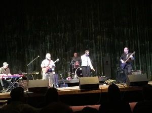 Terry Mulhauser on guitar, and Jerry Neely on keyboard, play earlier this year with the Carolyn Kelly Blues Band.
